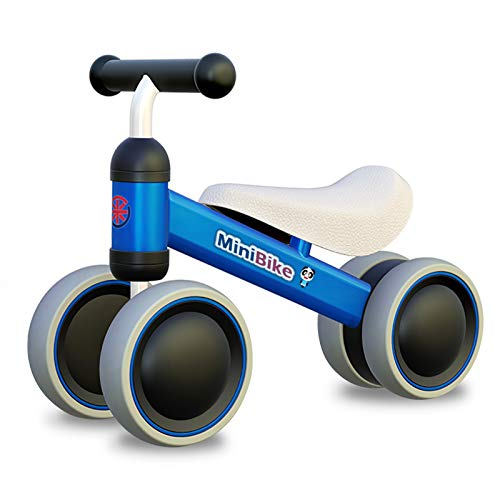XIAPIA Kinder Laufrad Spielzeug für 10 - 24 Monate Baby, Lauflernrad mit 4 Räder, Erst Rutschrad...