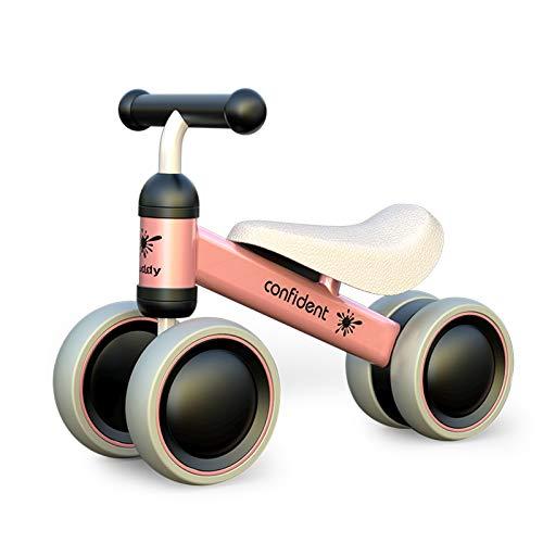 XIAPIA Kinder Laufrad ab 1 Jahr mit 4 Räder, Erstes Fahrrad Spielzeug für 10 - 24 Monate Baby,...