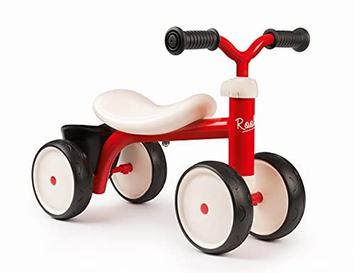 Smoby 721400 – Rookie Laufrad Rot – ideale Lauflernhilfe für Kinder ab 12 Monaten, Lauflernrad...