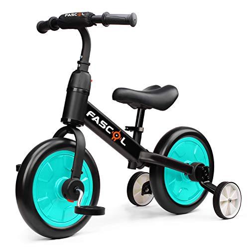 Fascol 3 in 1 Laufräder Laufrad für Kinder Kinderdreirad Multi Dreirad für Kinder ab 1 Jahre bis...