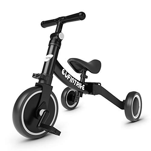 besrey 5 in 1 Laufräder Laufrad Kinderdreirad Dreirad Lauffahrrad Lauflernhilfe für Kinder ab 1...